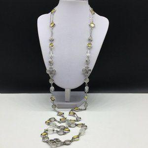 Lia Sophia Long Beaded Clover Chain Necklace